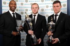Lucas Radebe, Wayne Rooney and James Milner