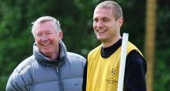 Sir Alex Ferguson and Nemanja Vidic