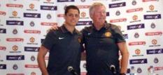 Javier Hernandez with Sir Alex Ferguson