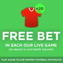 Join Picklive now, and get a FREE BET !