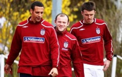 The three musketries; Ferdinand, Rooney and Carrick...