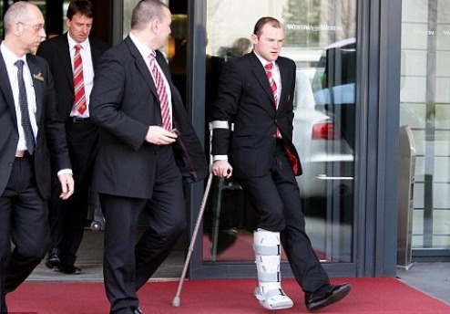 Rooney leaves The Westin, Munich